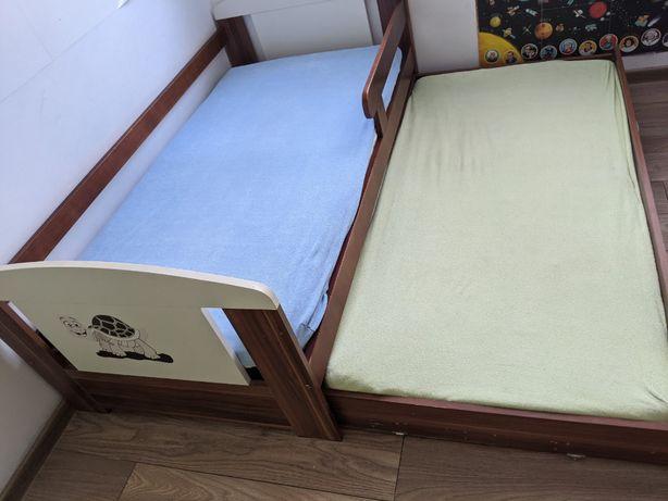 podwójne łóżko dziecięce 160x80 z materacami