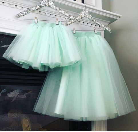 Фатиновые юбочки Family look, для вас и вашей доченьки