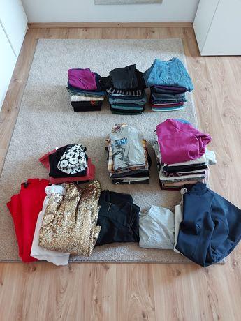 Zestaw mega paka ciuchów spodnie bluza bluzka 34 36 38