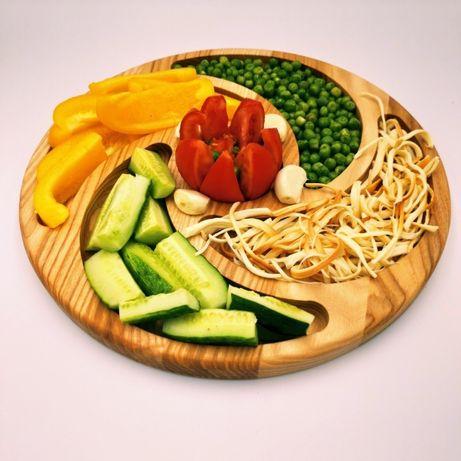 Деревянная тарелка - Менажница