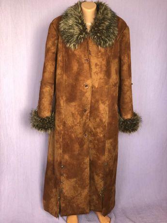 Длинная теплая зимняя дубленка в пол – «Боярыня Морозова»