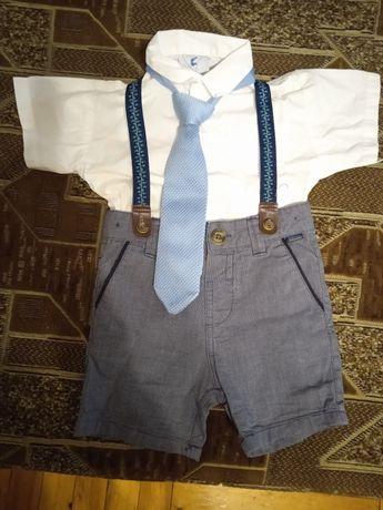Костюм на день рождения на мальчика  - шорты шведка рубашка галстук