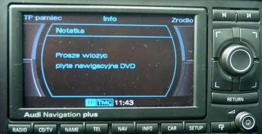 Polskie Menu PL POLSKI LEKTOR Mapa 2020 Audi RNS-E A3 A4 B6 B7 A6 TT