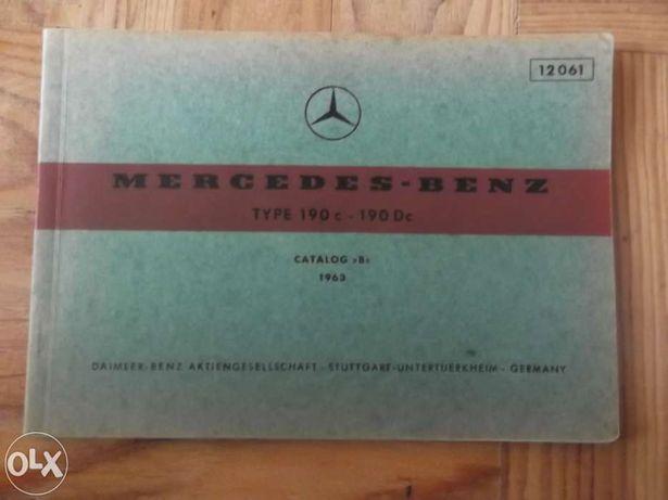 Livro de carro antigo Mercedes-Benz 190 c -190 Dc