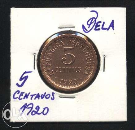 Espadim - Moeda 5 Centavos de 1920 - Escassa