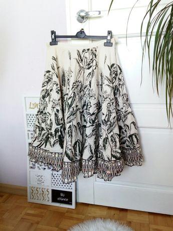 B.Young piękna spódnica M 38 rozkloszowana w kwiaty na wiosnę lato