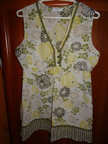 bluzka na lato tunika ciążowa roz l xl 42/44 uk 14
