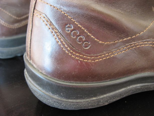 ECCO Skórzane buty botki kozaczki damskie 37
