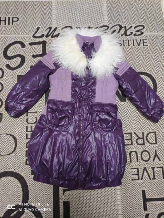 Пуховик, куртка, пальто зимнее на девочку 134 р. Бровары - изображение 1