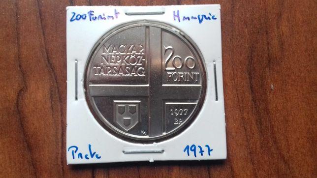 Moeda 200 Forint 1977 Hungria
