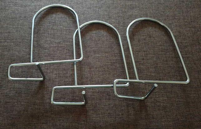 Ikea Flit  srebrne podpórki/ograniczniki do książek