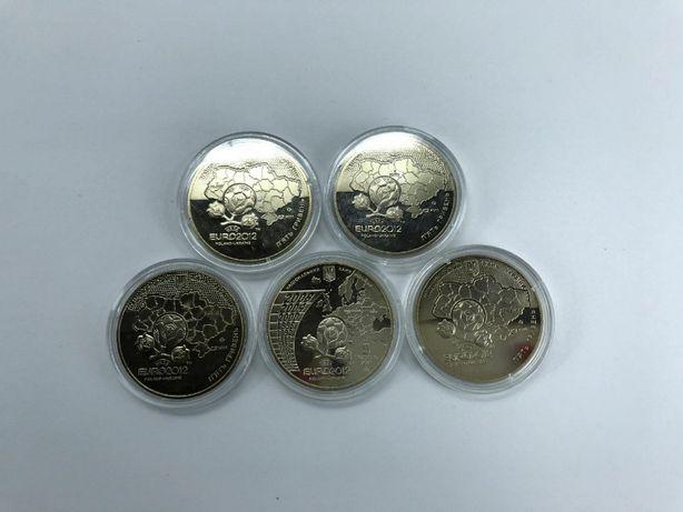 """Продам набір монет НБУ """"Євро-2012"""" в кількості 5 шт."""
