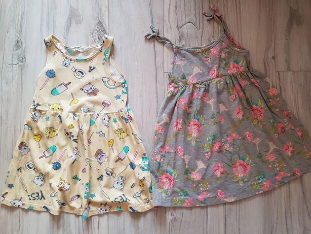 Sukienki dziewczęce r 104 2sztuki