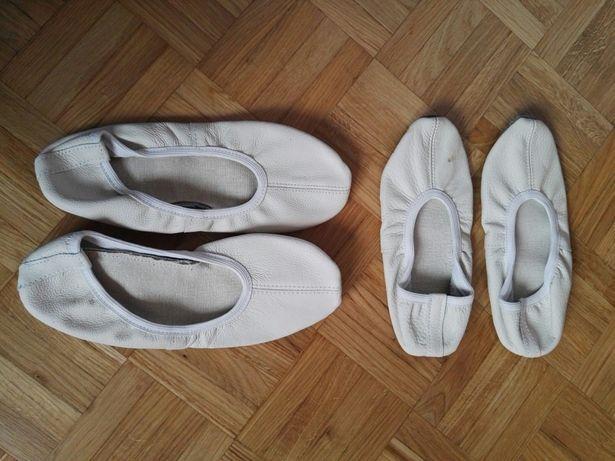 Baletki białe skórzane różne rozmiary NOWE
