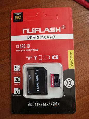 Карта пам'яті MicroSD 32GB Class 10+Картрідер  MicroSD