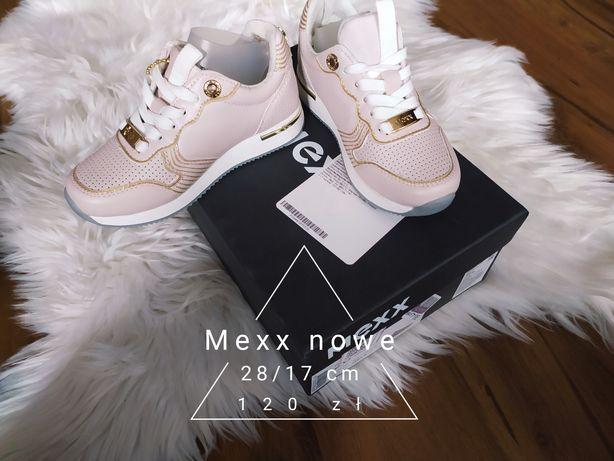 Nowe buty Mexx rozmiar 28/17 cm długość wkładki pudrowy róż snakersy