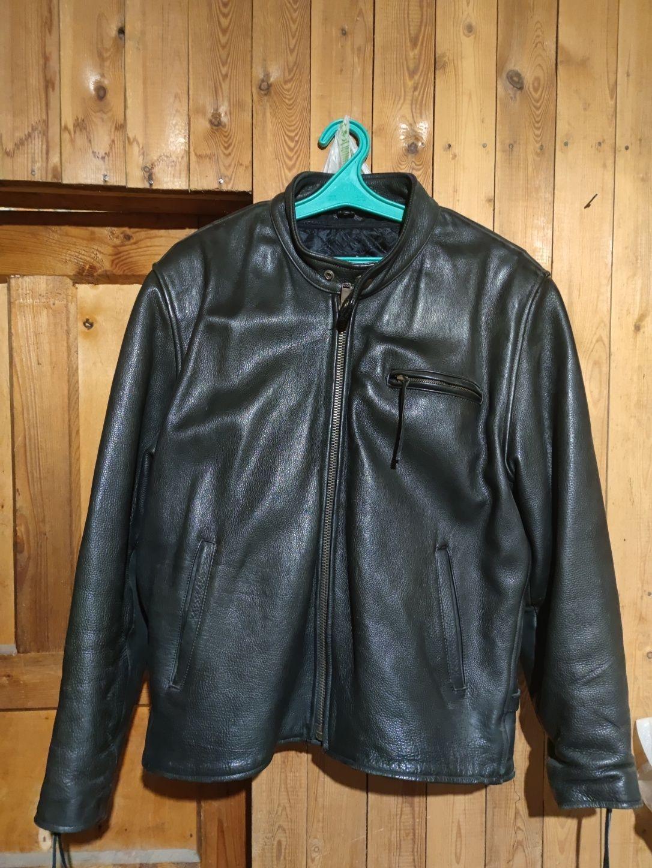 Мотокуртка натуральная кожа, куртка байкера, new age 50 размер