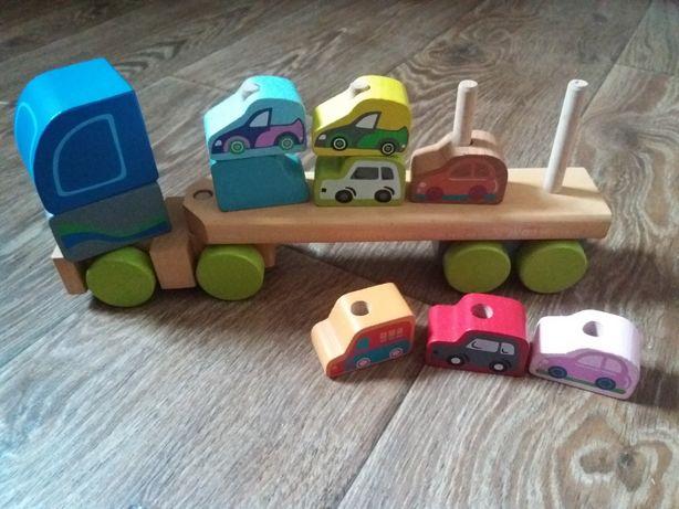 Деревянная развивающая игрушка грузовик Cubika