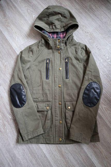 Куртка тонкая, демисезонная + флиска на мальчика подростка