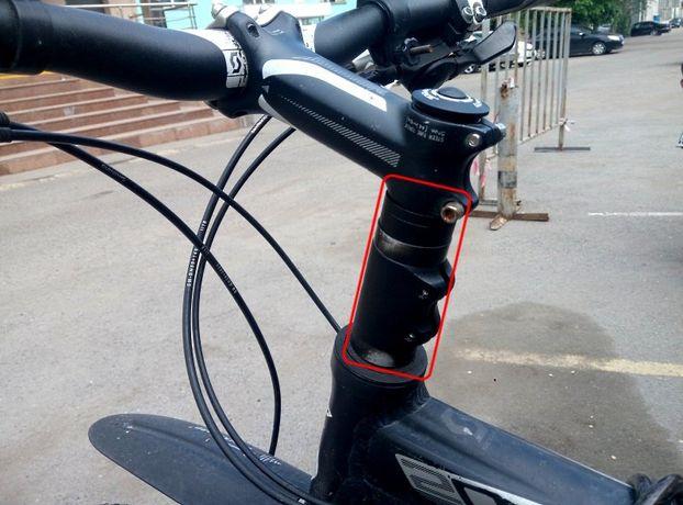 Удлинитель штока вилки, подъём руля, адаптер руля велосипеда, подовжув
