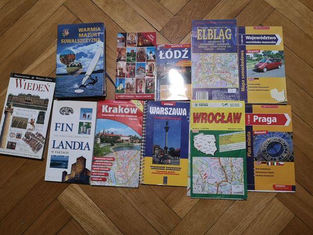 Mapy i przewodniki (Warszawa, Wiedeń, Łódź, Mazury, etc)
