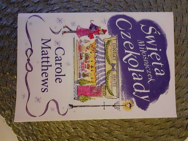 """Książka ,,Święta miłośniczek czekolady"""" Carole Matthews"""