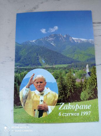 Bilet na mszę świętą celebrowaną przez Jana Pawła II w Zakopanem
