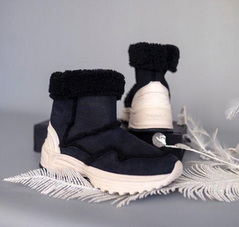 Ботинки кроссовки зимние COACH 37-37,5 UGG Calvin Klein Michael Kors