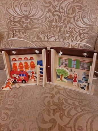 Домик игрушка деревянная домік іграшка дерев'яна