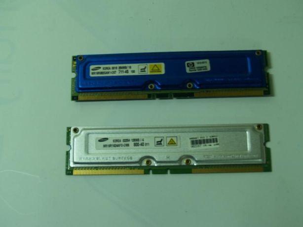 Memórias Rimm 128 e 256MB PC 800