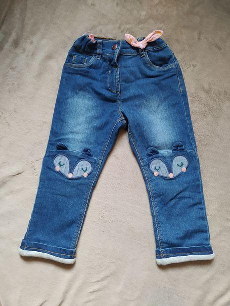 Ocieplane spodnie Cool Club 92 jeansy
