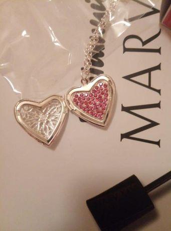 Красивый кулон сердце с кристаллами mary kay / мери кей