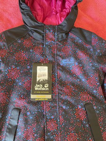 Демисезонная утепленная курточка Jack Wolfskin для девочки