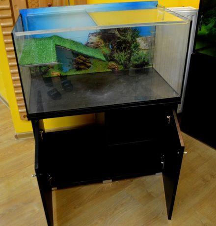 Akwarium dla żółwia wraz z szafką