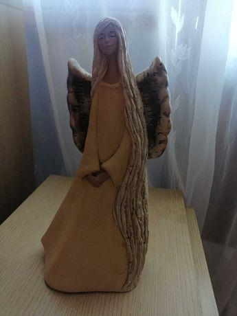 Figura ceramiczna - anioł