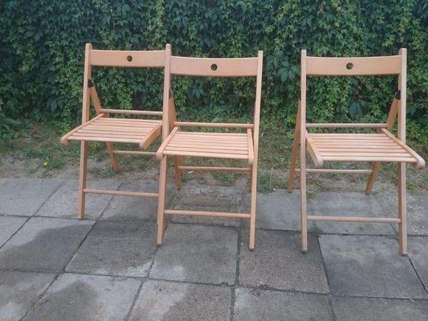 Krzesła ogrodowe drewniane składane wysyłka