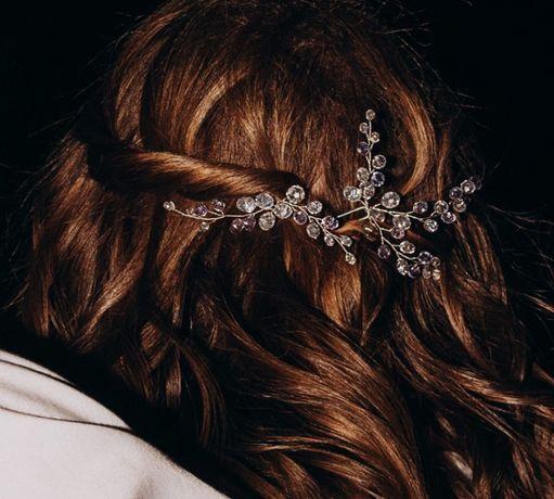 Ozdoba ślubna do włosów. Wsuwka. Spinka