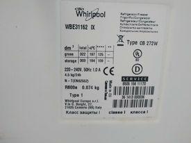 Szuflady i inne elementy z lodówko zamrażarki Whirlpool WBE31162XI