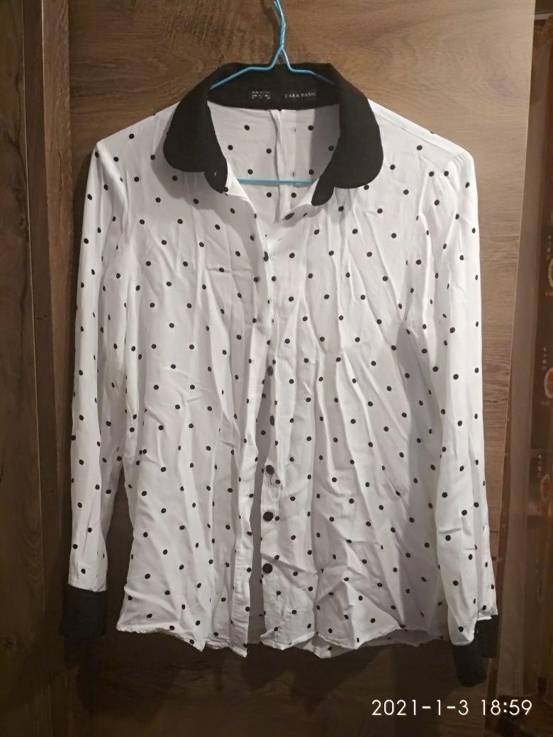 Блузка рубашка Zara S
