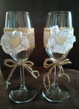 Kieliszki ślubne do szampana