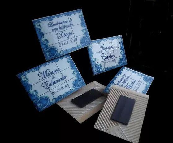 Lembrancas Casamentos azulejos cerâmicos