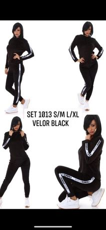Dres welurowy czarny S/M XL/XXL