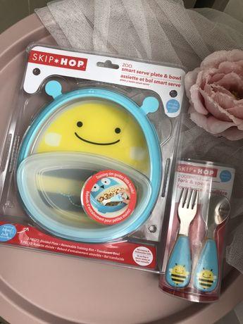 Набор посуду Skip Hop  Bee тарілка  ложка вилка