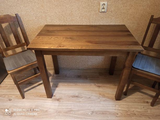 Sprzedam drewniany stół z krzesłami