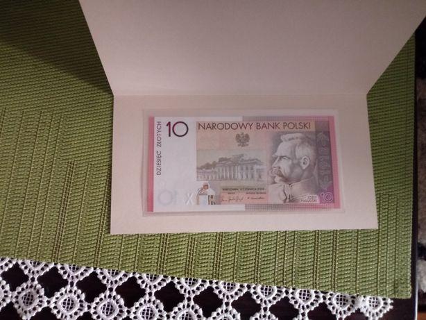 Banknot 10 zł.Józef Piłsudski