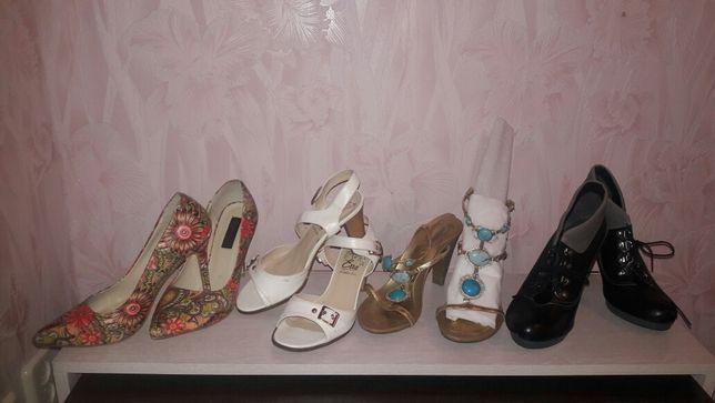 Ботинки, туфли, босоножки 39 размер, кожа
