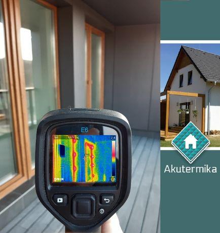 Termowizja budynków, badanie kamerą termowizyjną, mostki termiczne
