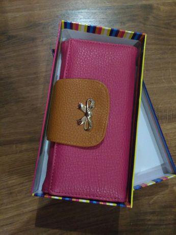Кошелек женский розовый, гаманець, подарок