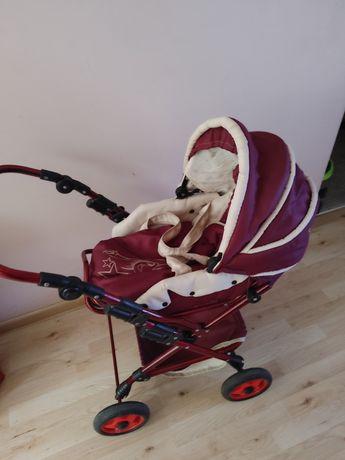 Duży wózek dla lalek z nosidełkiem