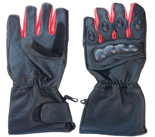 Rękawice motocyklowe skórzane S, M, L, XL i XXL.